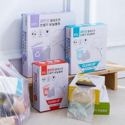 클린업 분리수거 쓰레기 비닐봉투_100L(40매) 1+1