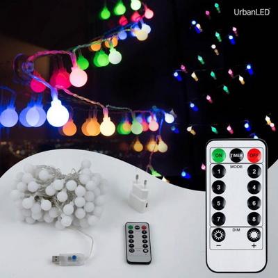 어반 LED 앵두전구 100구 USB형 컬러