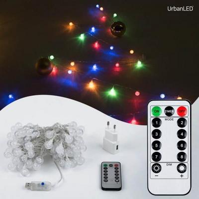 어반 LED 버블전구 100구 USB형 컬러