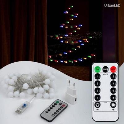 어반 LED 앵두전구 50구 USB형 컬러