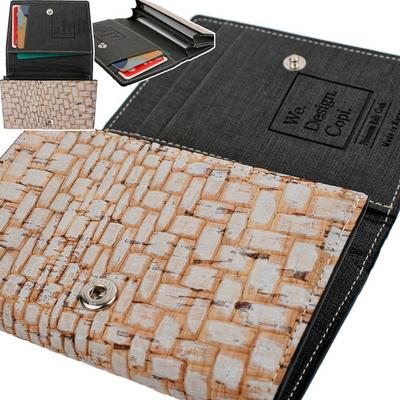 나무가죽 이태리 CORK 명함 카드 지갑