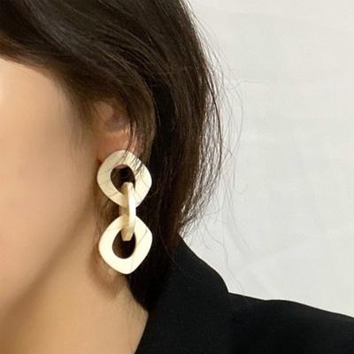볼드한 체인 호마이카 원석 귀걸이(acc227)