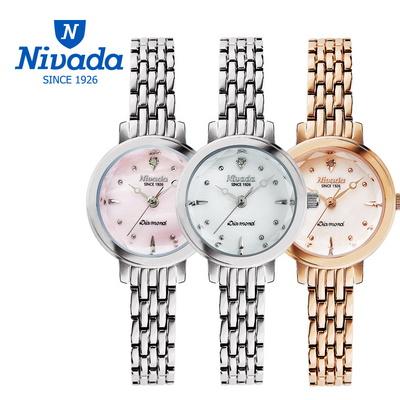 NIVADA 여성용 다이아몬드 메탈 시계