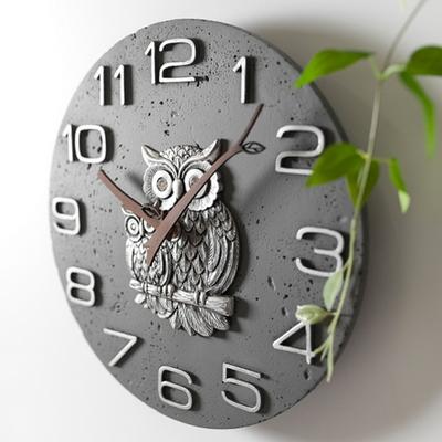 안나부엉이벽시계(그레이)