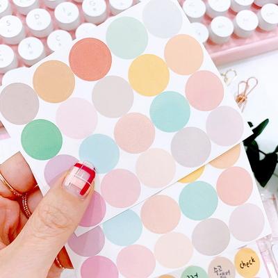 포인트 데코 메모 컬러칩 원형 스티커 - 칼선 스티커
