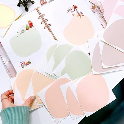 왕동글동글 컬러칩 모조지 인스 인쇄소스티커 15매