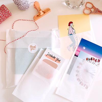 감성 선물 포장 반투명 종이 봉투 페이퍼백 (20매)