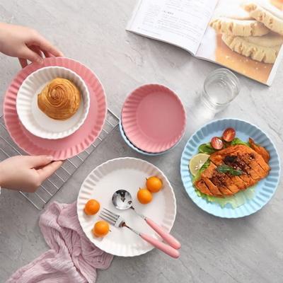 세라믹 트윙클 접시 대(화이트/핑크)