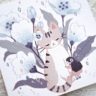 위로고양이 엽서