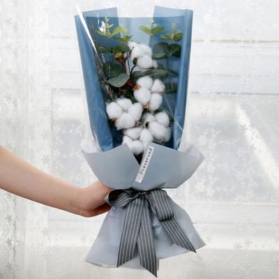 꽃다발 조화꽃 입학 졸업 기념일선물 5송이 목화꽃다발