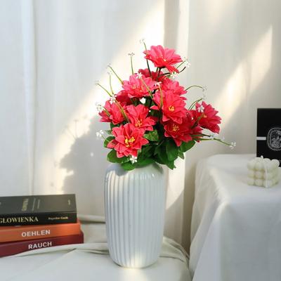 3+2행사 인테리어 성묘꽃조화 다알리아 조화꽃다발 고급조화꽃