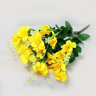 3+2행사 인테리어 성묘꽃조화 후리지아 조화꽃다발 고급조화꽃