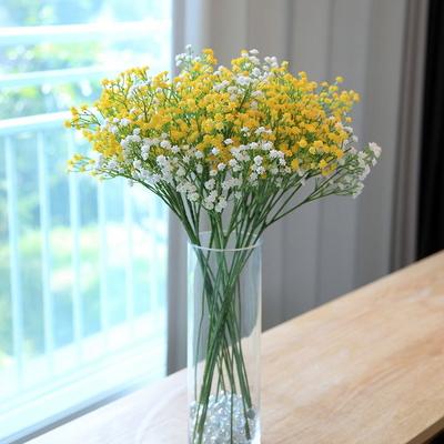 안개꽃 조화 가지(5pcs) 옐로우