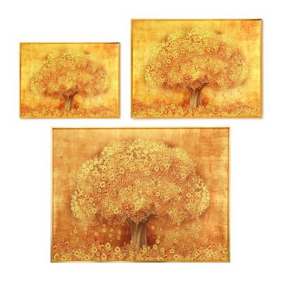 풍수 인테리어 벽걸이 액자 황금 돈나무 소 39cmx29cm