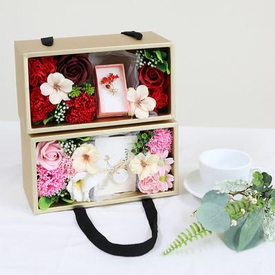 어버이날 비누꽃 선물 브로치 플라워 박스