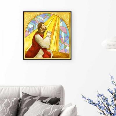 모던인테리어액자 C002 성경 기도 50x50cm