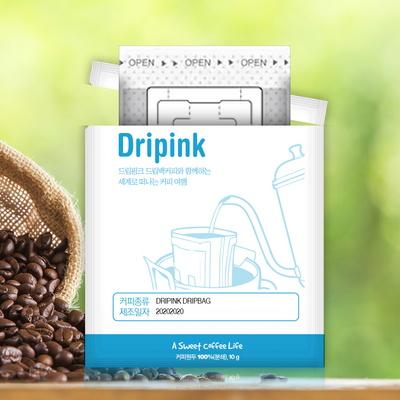 드립핑크 갓볶은 에티오피아 예가체프 G2 10g x 15봉 드립백커피
