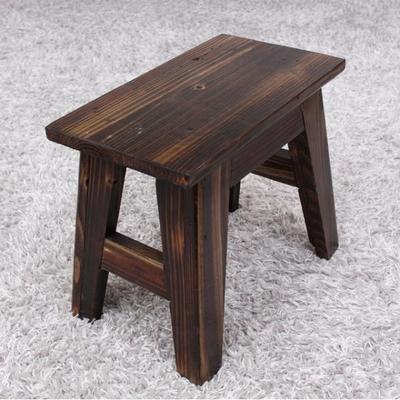 빈티지 원목 사각스툴 의자