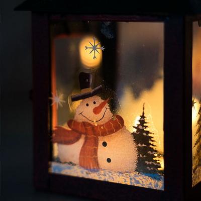 크리스마스 산타와 눈사람 티라이트 캔들홀더 2size
