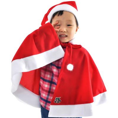 국산(일반산타망토모자세트아동)파티용품 산타망토 아동망토 산타의상 산타복 산타모자 루돌프 크리스마스