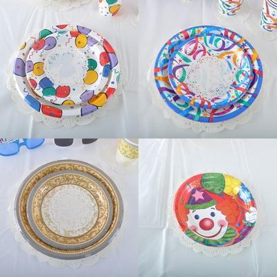 파티접시(6개입) 생일파티 돌잔치 피크닉 종이접시