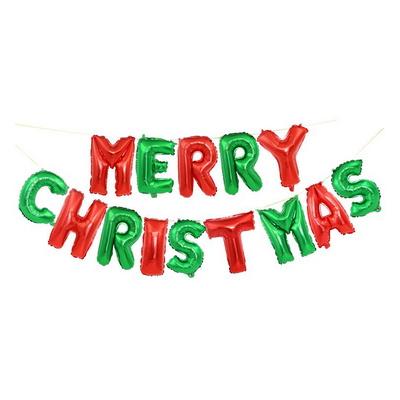 메세지은박풍선세트 크리스마스(레드그린) 호일 풍선
