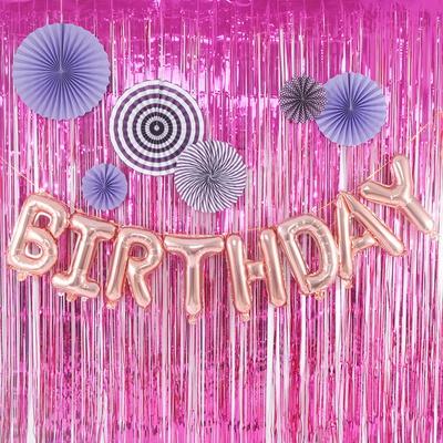 (파티장식은박수술커튼)생일 파티 가랜드 이벤트 기념