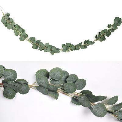 유칼립투스나뭇잎가랜드(원형잎)2M 파티 장식