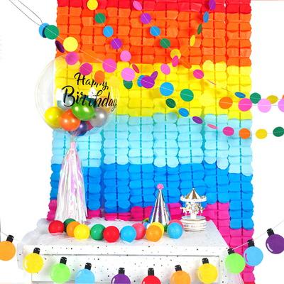 파티장식클로버가랜드(레인보우) 생일 배너 소품 행사