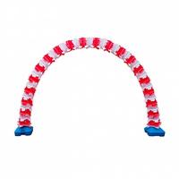 PVC형광대박가랜드(화이트앤레드) 오픈식 입구 장식