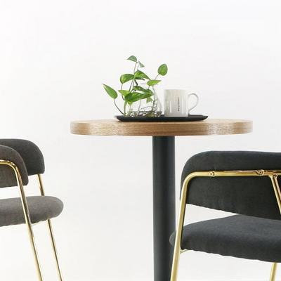 2인용 무늬목600 원형 3인치 원반다리 티테이블