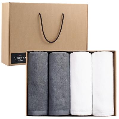 바스타올 30수 350g 4P 호텔 대형 목욕 수건 선물세트