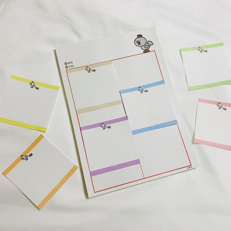 꼬꼬 미니떡메모지 미니떡메(100매) - 반아리, 2,500원, 메모/점착메모, 메모지