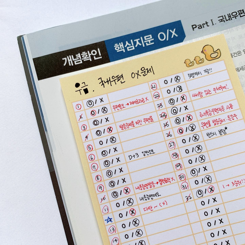 병아리 OX떡메모지 4종(모조지100g) (100매) - 반아리, 4,000원, 메모/점착메모, 메모지