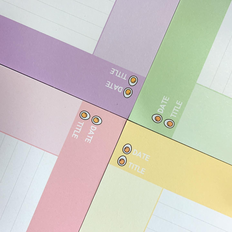 B5떡메모지 코넬노트 4종(모눈노트 모조지100g) 25매 - 반아리, 2,700원, 메모/점착메모, 메모지