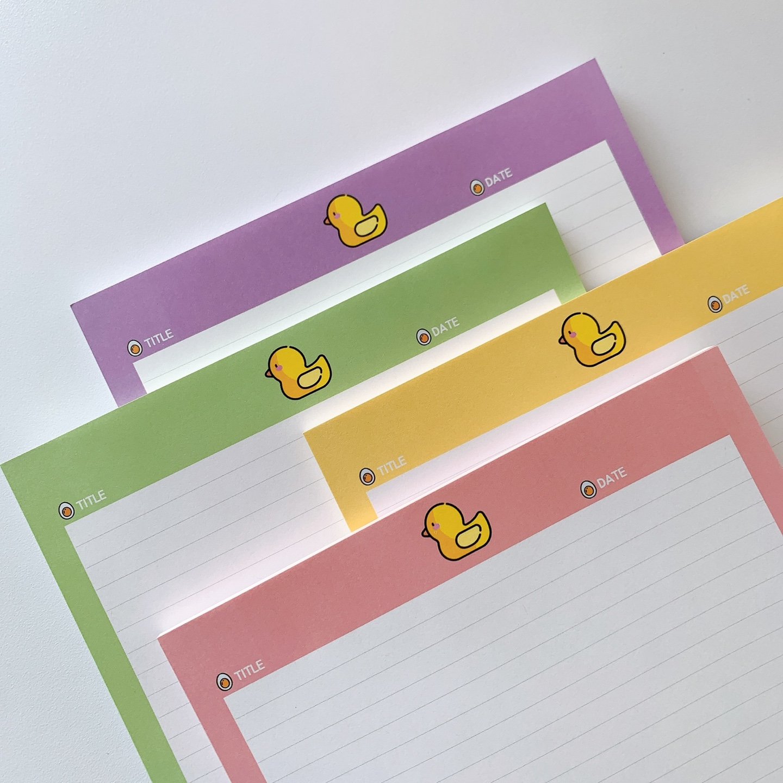 B5떡메모지 라인(줄)노트 4종(모조지100g) 100매 - 반아리, 6,000원, 메모/점착메모, 메모지