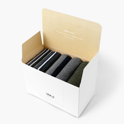 남성용 삭스 5팩 Gift-C-SET (쇼핑백 포함)