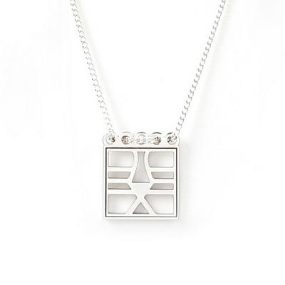 민화 호랑이 사각 목걸이_square tiger necklace