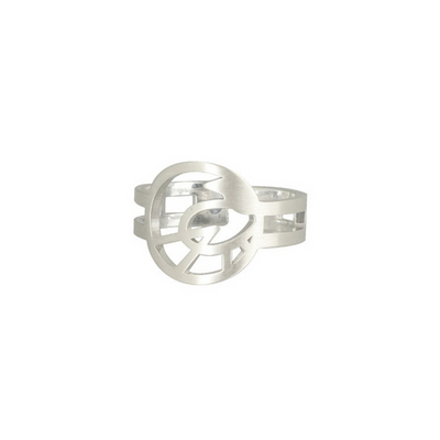 민화 까치 원 반지_circle magpie ring