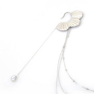 비유설백 인어 진주 이어커프 - 쇼피스 _ Korean mermaid pearl ear cuff _ show
