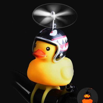 러버덕 프로펠러 헬멧 오리 라이트 벨 자전거 전조등