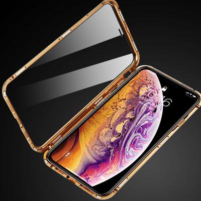 아이폰11 11프로 11프로맥스 전면 풀커버 투명 강화유리 메탈 마그네틱 휴대폰 케이스