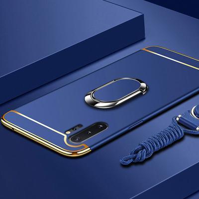 갤럭시노트10 노트10플러스 슬림핏 골드라인 스마트링 거치대 범퍼 하드 휴대폰 케이스