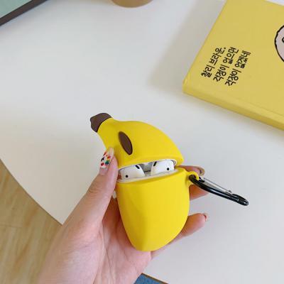 에어팟프로 3세대 귀여운 바나나 캐릭터 실리콘 케이스 고리 카라비너 키링 세트 악세사리