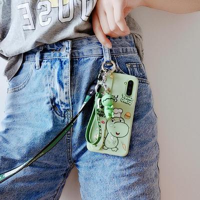 갤럭시노트10 플러스 노트9 귀여운 공룡 캐릭터 손목 스트랩 젤리 케이스 목걸이줄 키링세트