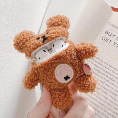 에어팟 1 2 3세대 프로 귀여운 뽀글이 테디 베어 곰돌이 인형 뜨개질 털 케이스 커플추천