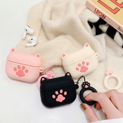 에어팟케이스 1 2 3세대 프로 귀여운 캐릭터 고양이 발바닥 실리콘 고리 키링세트 악세사리