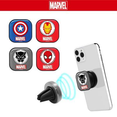 정품 마블 심볼 그립톡 어벤져스 히어로 캐릭터 핸드폰 마그네틱 거치대 호환 3단 이어폰정리