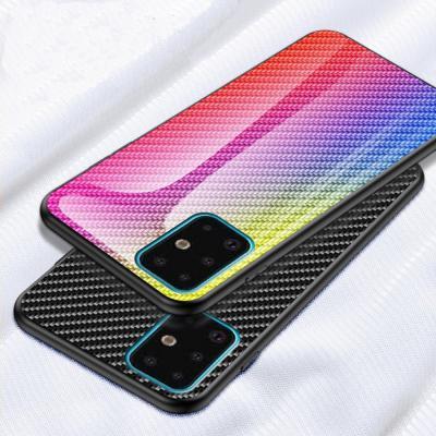 갤럭시S20 S10 S9 노트10 9 8 그라데이션 카본 강화유리 글라스 슬림 하드 케이스