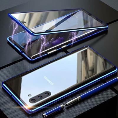 갤럭시S20 플러스 울트라 전면 풀커버 투명 강화유리 슬림핏 메탈 마그네틱 하드 케이스